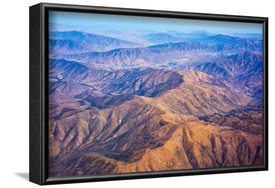 Aerial view of mountains, Atacama Desert, Chile-Keren Su-Framed Photographic Print