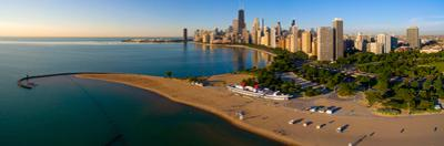 Aerial view of North Avenue Beach, Chicago, Cook County, Illinois, USA