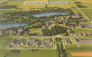 Aerial View of Notre Dame University, Indiana