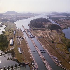 Aerial View of Panama Canal's Miraflores Locks