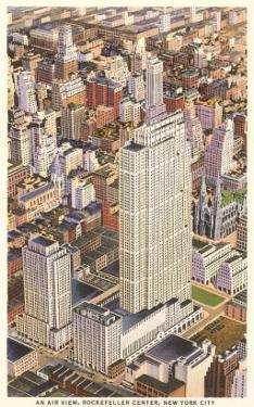 Aerial View of Rockefeller Center, New York City