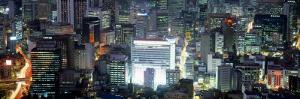 Aerial View of Seoul, South Korea, Korea