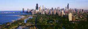 Aerial View of Skyline, Chicago, Illinois, USA