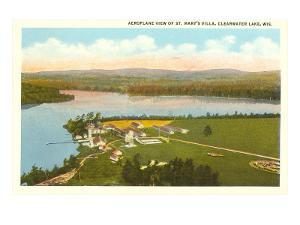 Aerial View of St. Mary's Villa, Clearwater Lake, Wisconsin