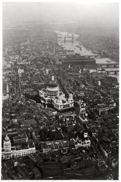 Aerial View of St Paul's Cathedral, London, from a Zeppelin, 1931