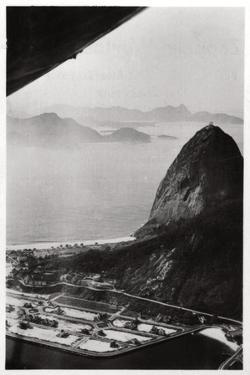 Aerial View of Sugarloaf Mountain, Rio De Janeiro, Brazil, from a Zeppelin, 1930