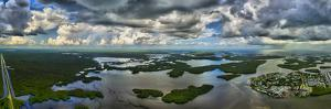 Aerial view of Ten Thousand Islands National Wildlife Refuge, Collier County, Florida, USA