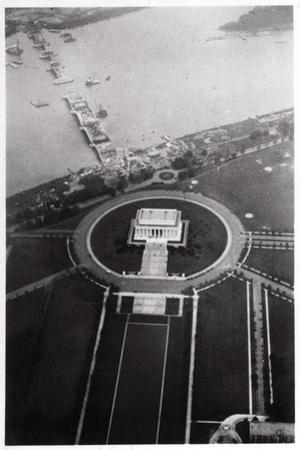 Aerial View of the Lincoln Memorial, Washington Dc, USA, from a Zeppelin, 1928