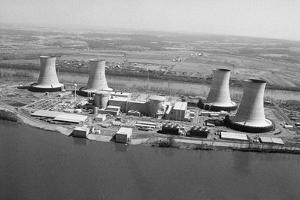 Aerial View of Three Mile Island Power P