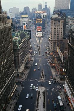 Aerial View of times Square