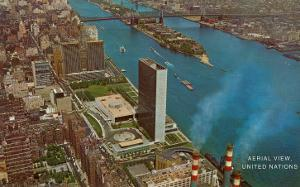 Aerial View, United Nations Building, New York City
