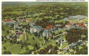 Aerial View, University of Kansas, Lawrence, Kansas