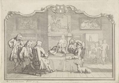 Guild of Saint Luke in Dordrecht, 1736 by Aert Schouman