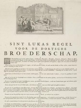 Rules of the Guild of Saint Luke in Dordrecht, 1736 by Aert Schouman