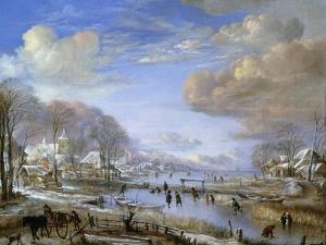 The Winter Landscape, C.1648 by Aert van der Neer