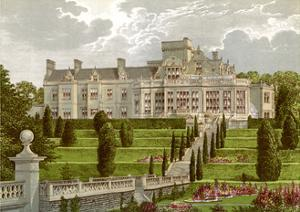 Easton Hall, Lincolnshire, Home of Baronet Cholmeley, C1880 by AF Lydon