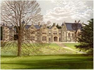 Exton House, Rutland, Home of the Earl of Gainsborough, C1880 by AF Lydon