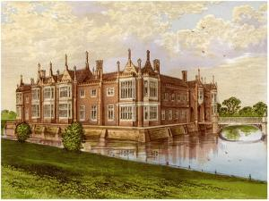 Helmingham Hall, Suffolk, Home of Baron Tollemache, C1880 by AF Lydon