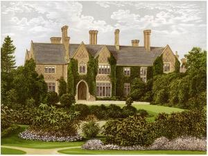 Oxley Manor, Staffordshire, Home of the Staveley-Hill Family, C1880 by AF Lydon