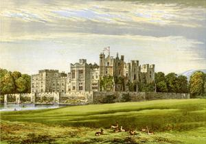 Raby Castle, County Durham, Home of the Duke of Cleveland, C1880 by AF Lydon