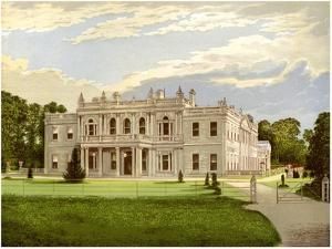 Rolleston Hall, Staffordshire, Home of Baronet Mosley, C1880 by AF Lydon