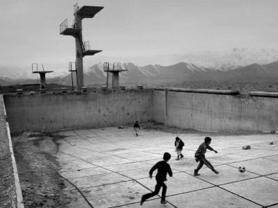 Afghan Boys Play Soccer