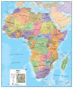 Maps of africa posters for sale at allposters africa 18 wall map educational poster gumiabroncs Gallery