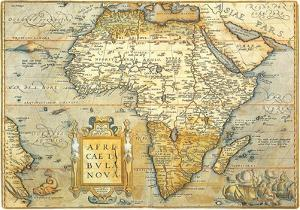 Africae Ta Bula Nova- Antique Map Of Africa