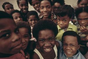 African American Children on the Street in North Philadelphia, Ca. 1975