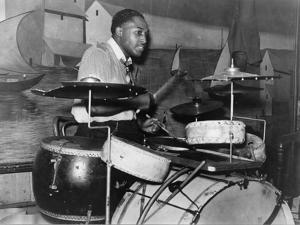 African American Drummer in Orchestra in Memphis Juke Joint, Tennessee, October, 1939