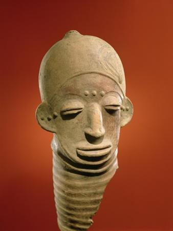 Asante Funerary Mask, from Ghana (Ceramic)