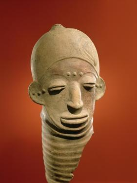 Asante Funerary Mask, from Ghana (Ceramic) by African