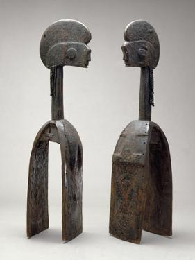 Male and Female Waja Masks, from Upper Benue River, Nigeria, 1850-1950 by African