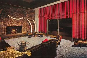 African Themed Family Room