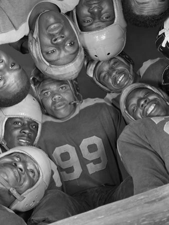 Africans American Football Huddle at Bethune-Cookman College,1943