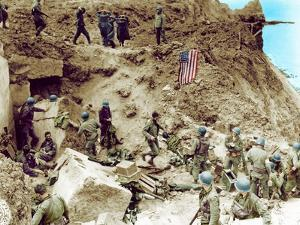 After the Assault at the Cliffs of Pointe Du Hoc by the 2nd Ranger Battalion