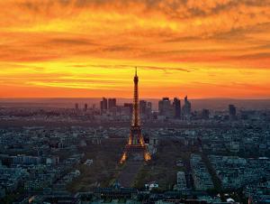 Sunset from Montparnasse by AG