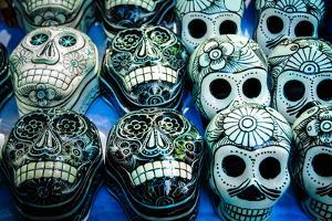 Day of the Dead Souvenir Skulls, Dia De Muertos by AGCuesta