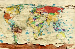 Aged Map Board