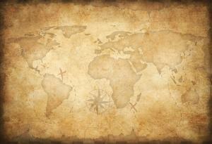 Aged Treasure Map Background