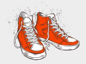 Hand-Drawn Sneakers by aggressor