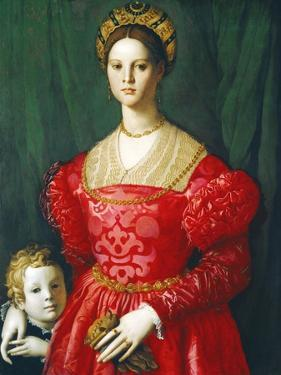 A Young Woman and Her Little Boy, C.1540 by Agnolo Bronzino