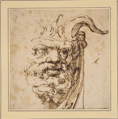A Silvan Mask by Agostino Carracci