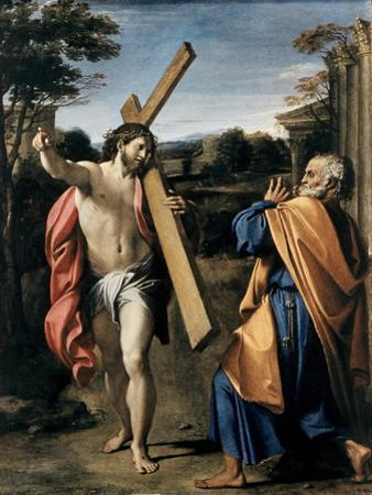 Christ Appearing to Saint Peter by Agostino Carracci
