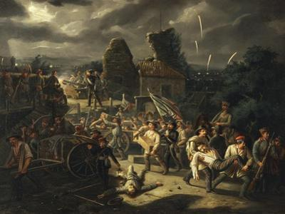 Defence and Evacuation of Rocchetta, Vicenza, May 24, 1848, Detail by Agostino Carracci