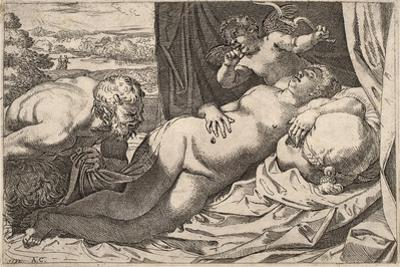 Satyr and Nymph by Agostino Carracci