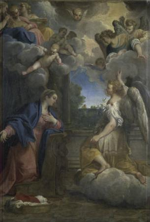 The Annunciation by Agostino Carracci