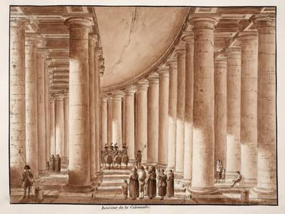 Interior of the Colonnade of St. Peter's Square, 1833