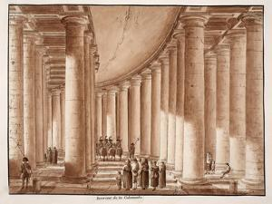 Interior of the Colonnade of St. Peter's Square, 1833 by Agostino Tofanelli