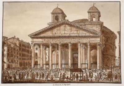 The Pantheon of Agrippa, 1833 by Agostino Tofanelli